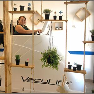 femme dans machine vacufit